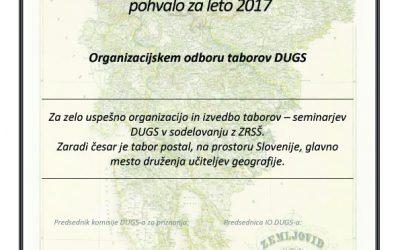 8. razpis za priznanja DUGS